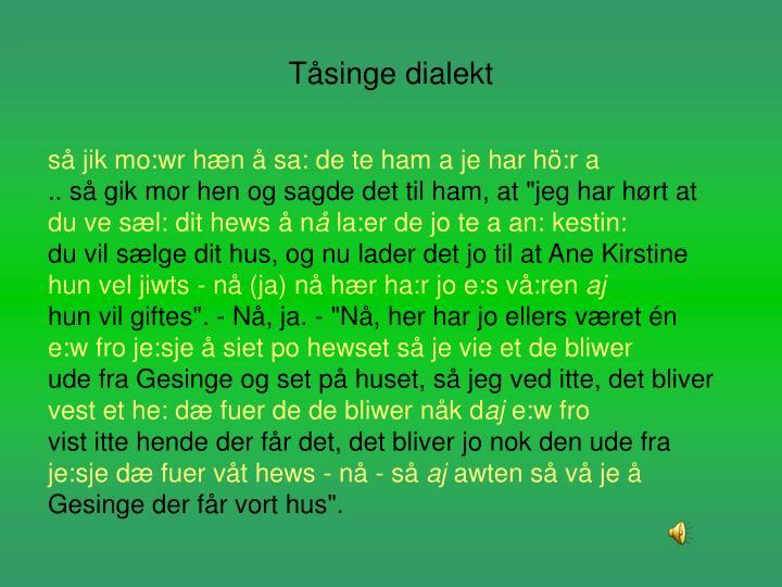 Tåsinge dialekt