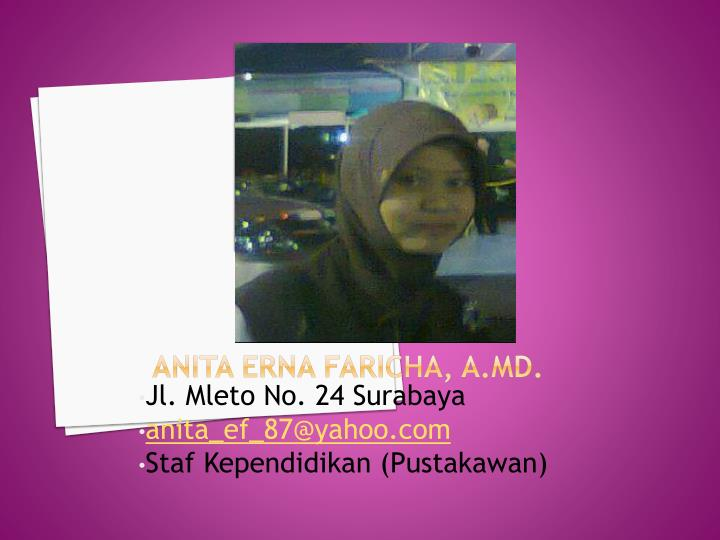 Anita Erna Faricha, A.Md.
