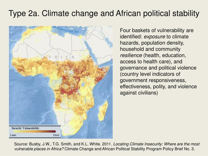 Type 2a. Climate change and African political stability