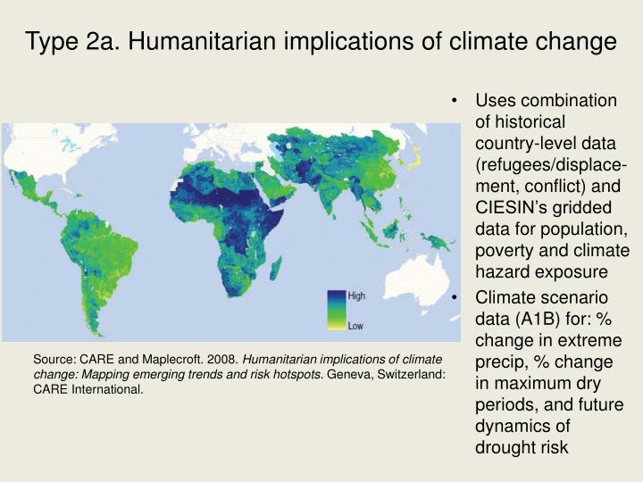 Type 2a. Humanitarian implications of climate change