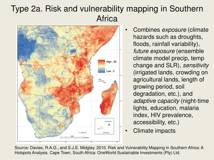Type 2a. Risk and vulnerability mapping in Southern Africa
