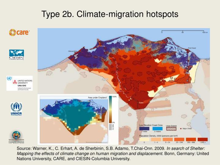 Type 2b. Climate-migration hotspots