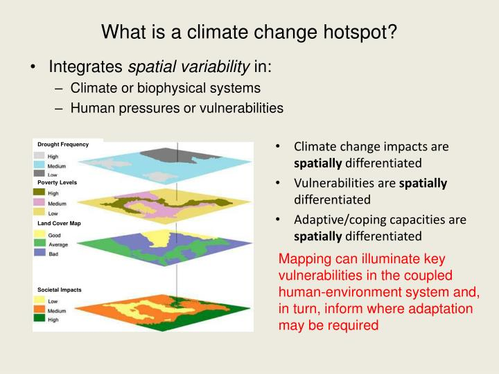 What is a climate change hotspot?