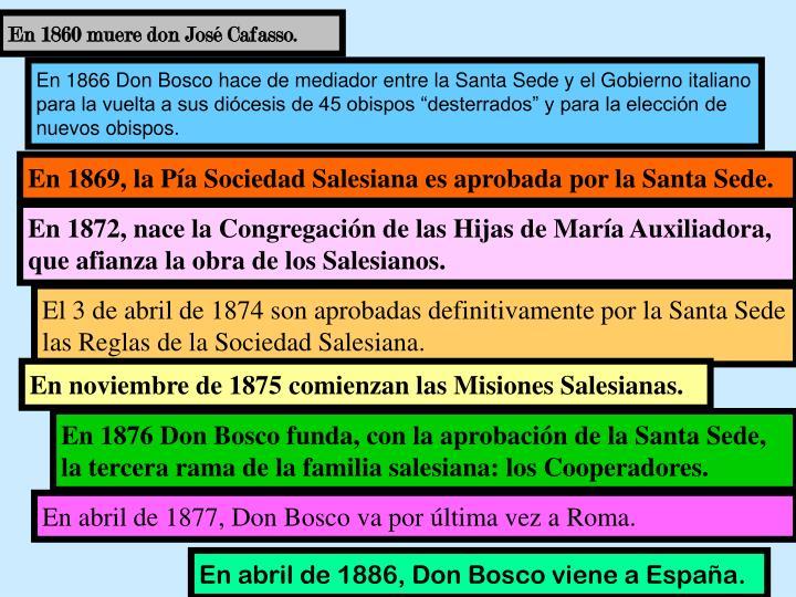 En 1860 muere don José Cafasso.