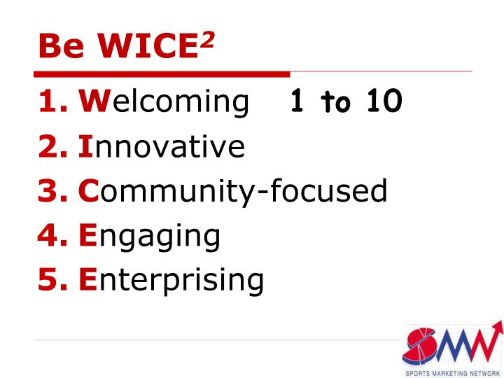 Be WICE
