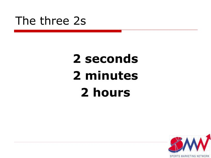 The three 2s