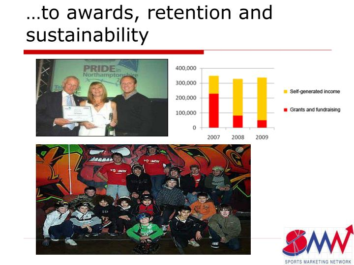 …to awards, retention and sustainability