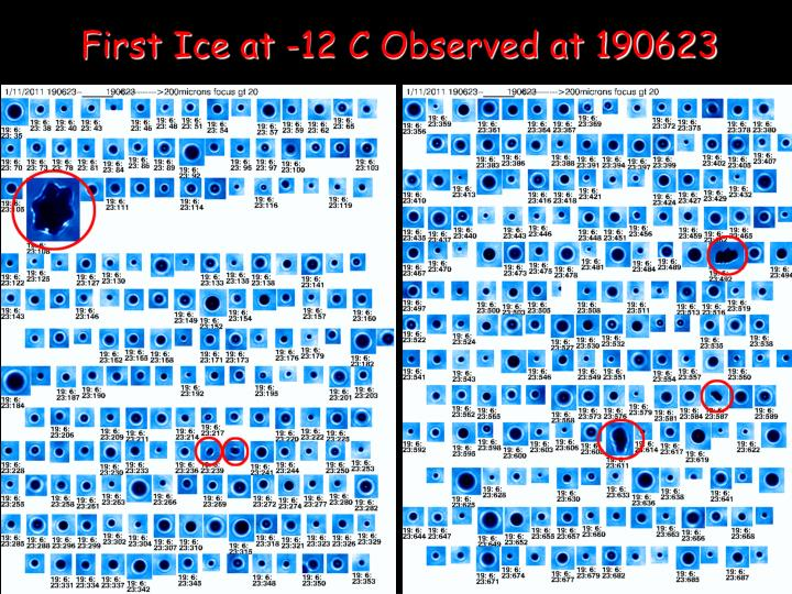 First Ice at -12 C Observed at 190623