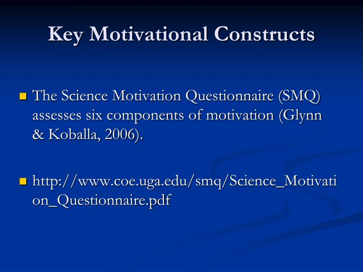 Key Motivational Constructs