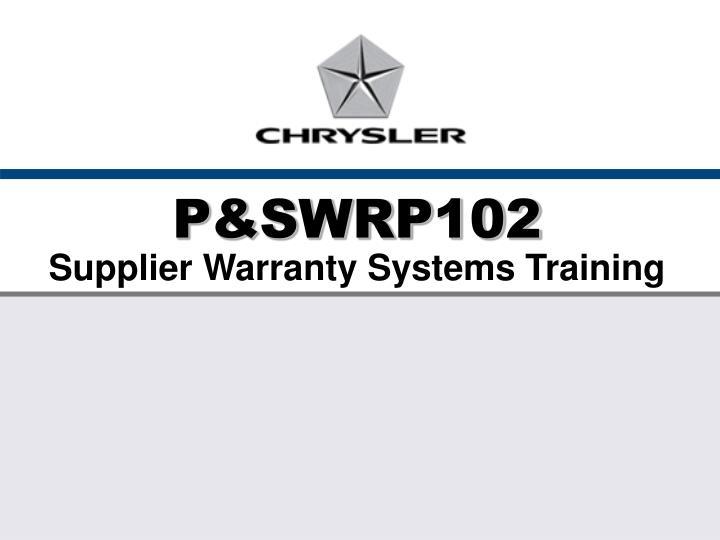 P&SWRP102