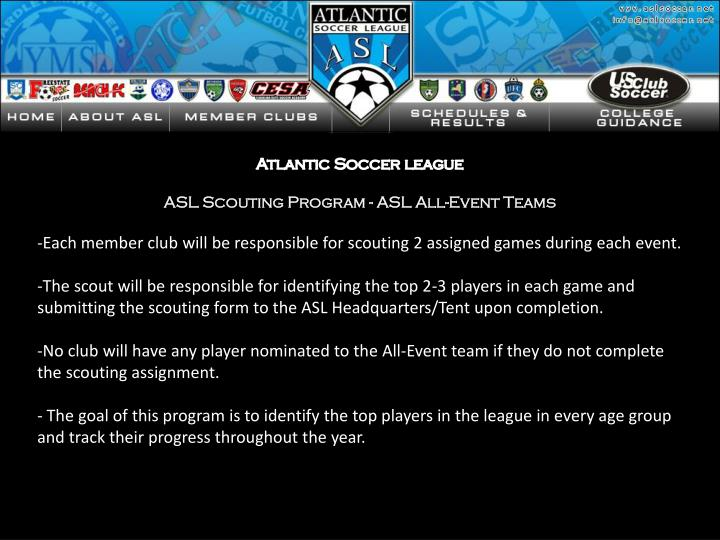 Atlantic Soccer league