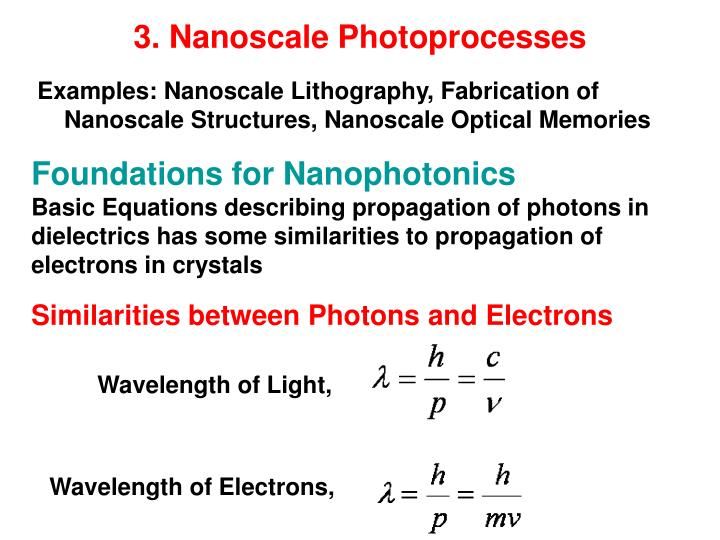 3. Nanoscale Photoprocesses