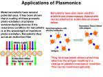 applications of plasmonics