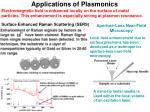 applications of plasmonics2