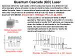 quantum cascade qc laser