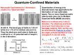 quantum confined materials