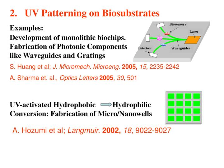 UV Patterning on Biosubstrates