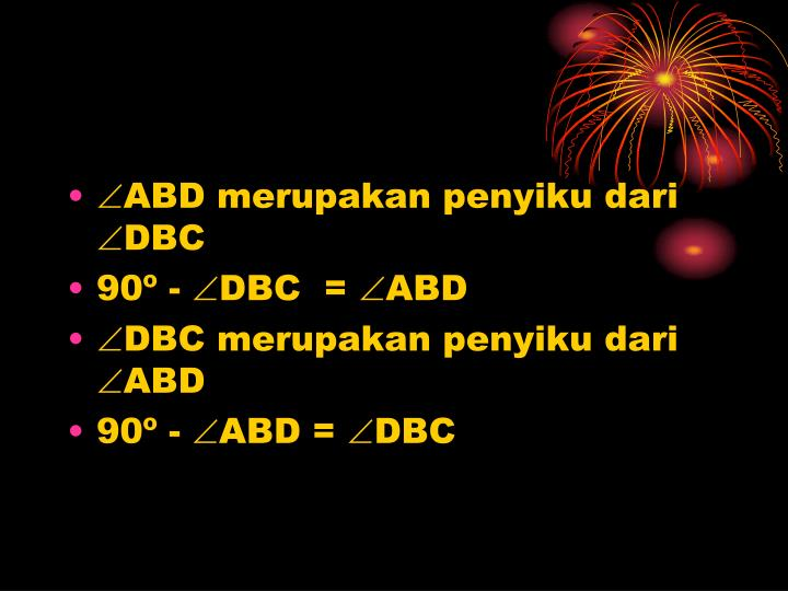 ABD merupakan penyiku dari DBC