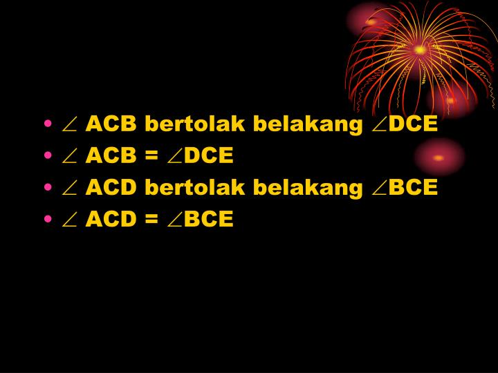  ACB bertolak belakang DCE