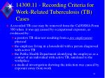 14300 11 recording criteria for work related tuberculosis tb cases