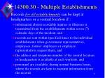 14300 30 multiple establishments1