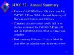 14300 32 annual summary