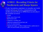 14300 8 recording criteria for needlesticks and sharps injuries1