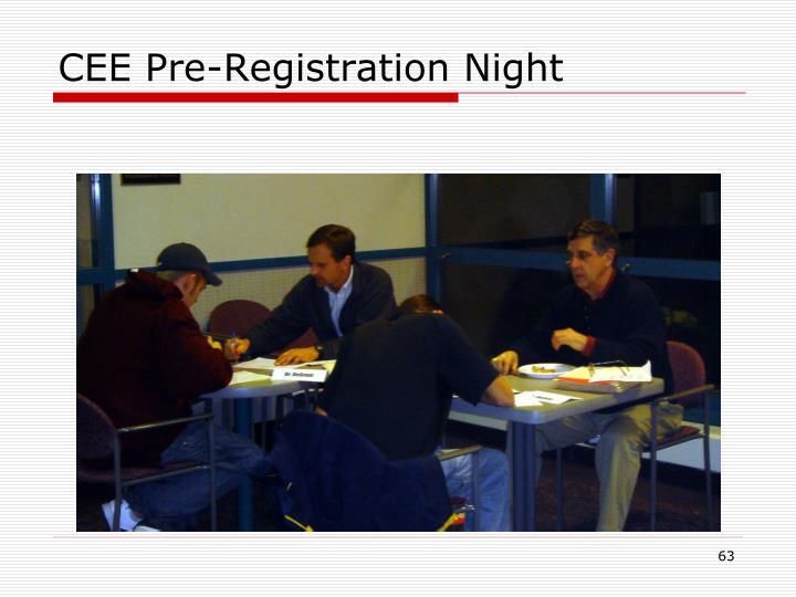 CEE Pre-Registration Night