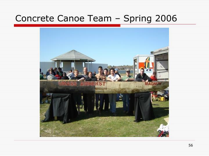 Concrete Canoe Team – Spring 2006