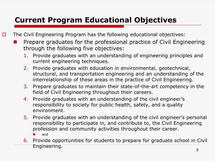 Current Program Educational Objectives