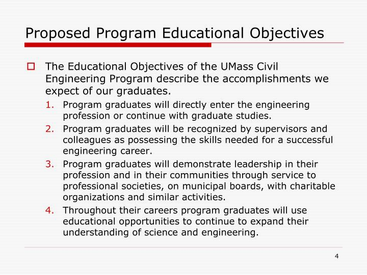 Proposed Program Educational Objectives