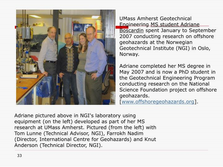 UMass Amherst Geotechnical Engineering