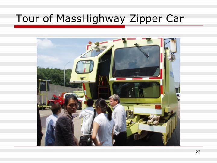 Tour of MassHighway Zipper Car