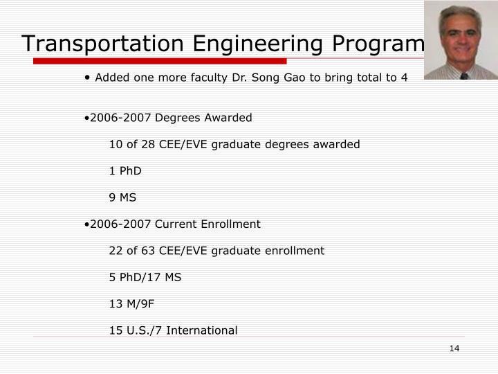 Transportation Engineering Program