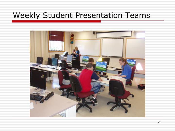 Weekly Student Presentation Teams