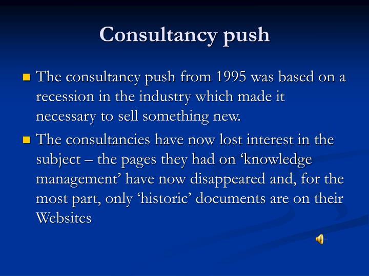 Consultancy push