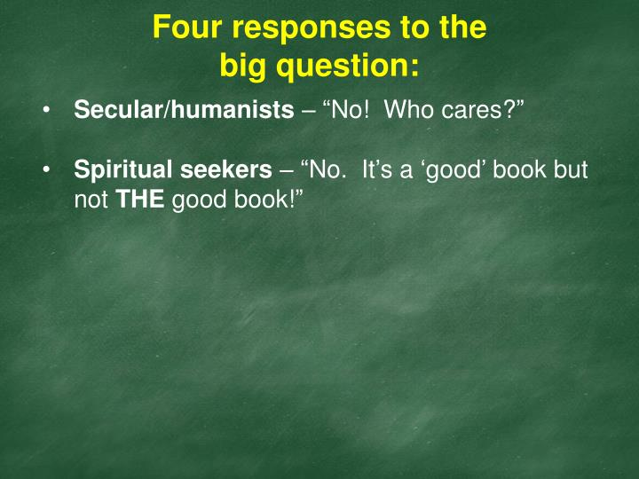 Four responses to the