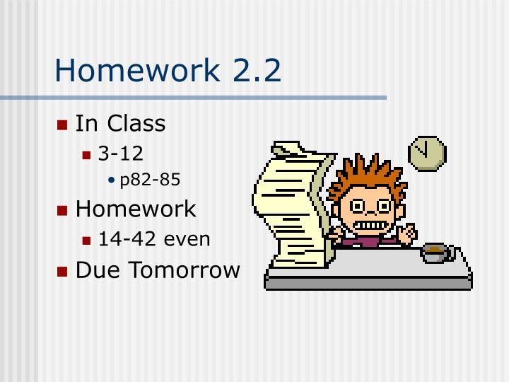 Homework 2.2