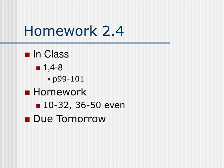 Homework 2.4