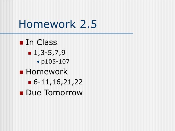 Homework 2.5
