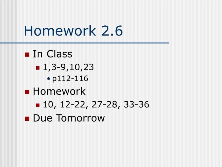 Homework 2.6