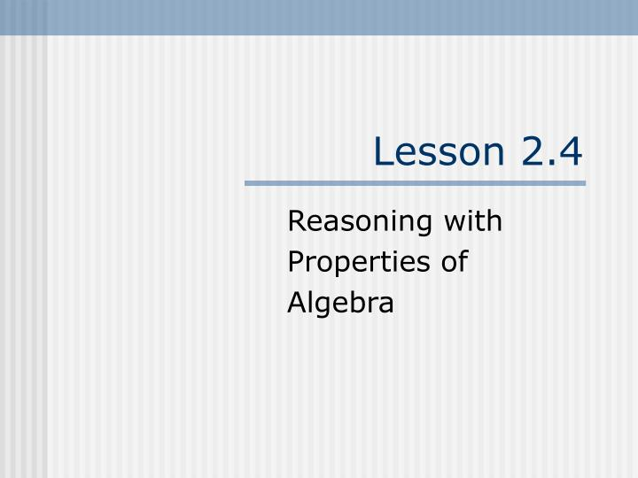 Lesson 2.4