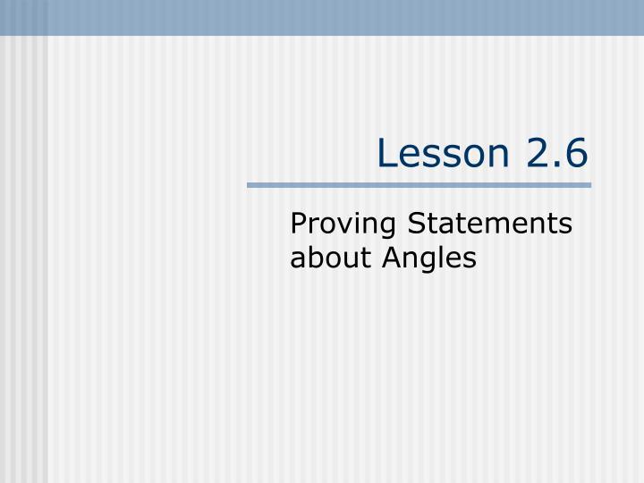 Lesson 2.6
