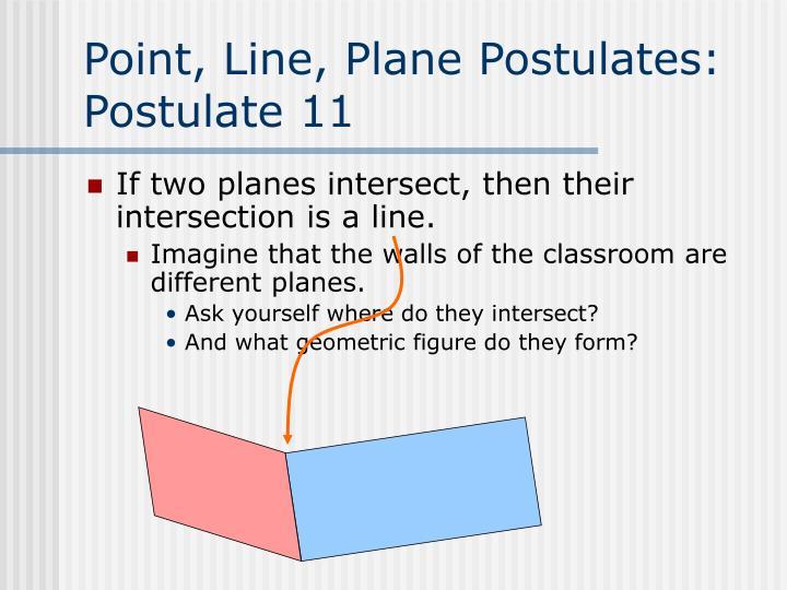 Point, Line, Plane Postulates: