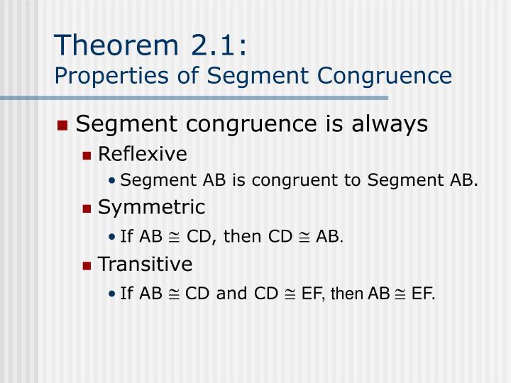 Theorem 2.1: