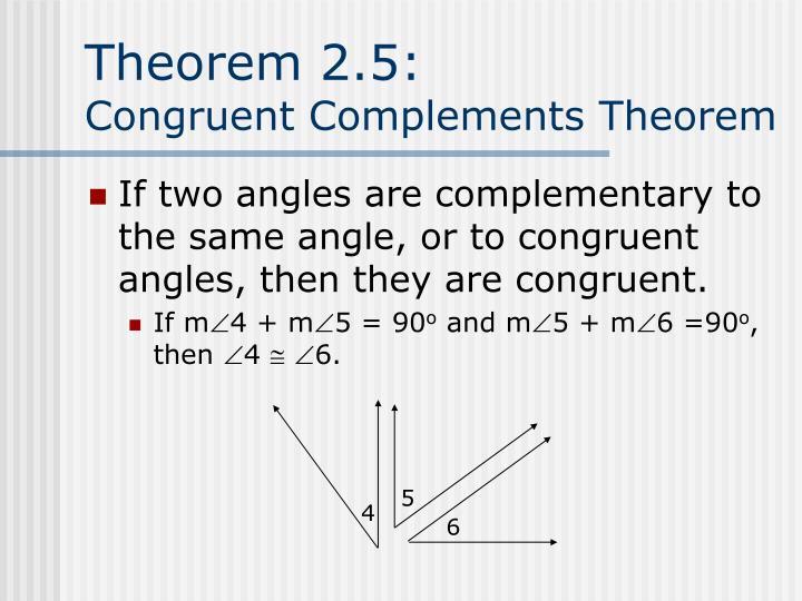 Theorem 2.5: