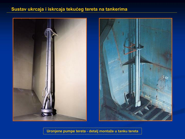 Uronjene pumpe tereta - detalj montaže u tanku tereta