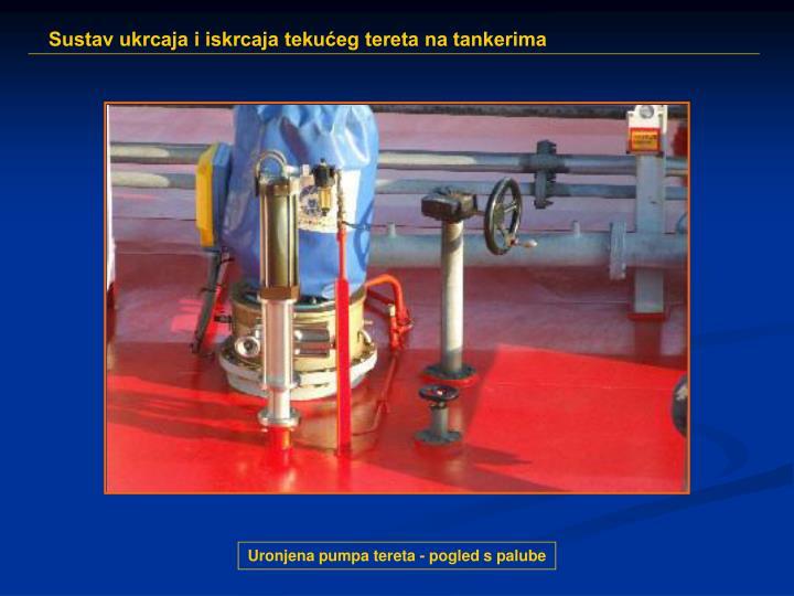 Uronjena pumpa tereta - pogled s palube
