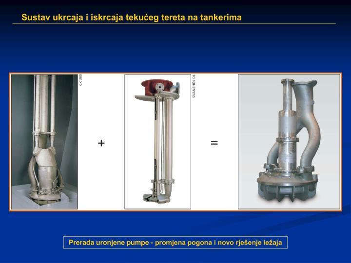 Prerada uronjene pumpe - promjena pogona i novo rješenje ležaja