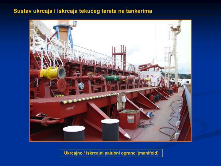 Ukrcajno / iskrcajni palubni ogranci (manifold)